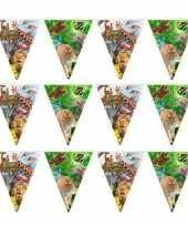 3x safari jungle themafeest vlaggenlijn 10 meter feestje