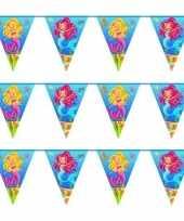 3x zeemeermin themafeest vlaggenlijnen 10 meter feestje