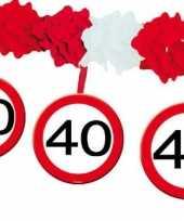 40 jaar feest slingers huldeborden feestje