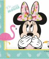 40x disney minnie mouse tropical themafeest servetten 33 x 33 cm feestje