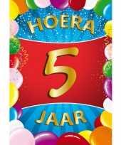 5 jaar mega deurposter 59 x 84 cm leeftijd verjaardag feestartikelen feestje