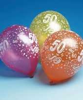 50 jaar feest ballonnen 5 stuks feestje