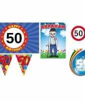 50 jaar versiering feestpakket abraham feestje