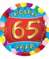 50x gekleurde bierviltjes 65 jaar feestartikelen feestje
