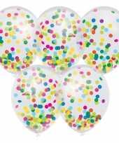 5x confetti thema feest ballonnen 30 cm feestje