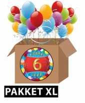 6 jarige feestversiering pakket xl feestje