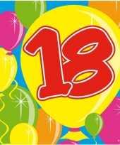 60x 18 jaar leeftijd themafeest servetten balloons 25 x 25 cm feestje