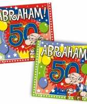 60x 50 jaar abraham leeftijd feest servetten 25 x 25 cm feestje