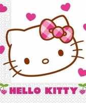 60x hello kitty themafeest servetjes 60 cm feestje