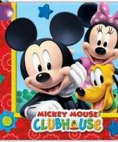60x mickey mouse themafeest servetten 33 x 33 cm papier feestje