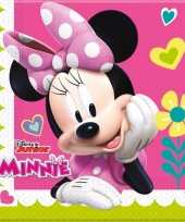 60x minnie mouse themafeest servetten 33 x 33 cm papier feestje