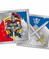60x ridder themafeest servetten 33 x 33 cm papier feestje