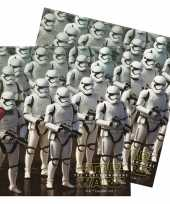 60x star wars themafeest servetten 33 x 33 cm papier feestje