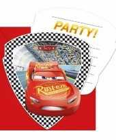 6x cars uitnodigingen voor uw feestje