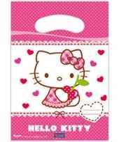 6x hello kitty themafeest feestzakjes 23 cm feestje