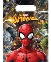 6x marvel spiderman themafeest uitdeelzakjes 16 x 23 cm feestje