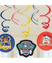 6x paw patrol themafeest rotorspiralen hangdecoratie feestje