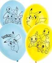 6x pokemon themafeest ballonnen 28 cm feestje