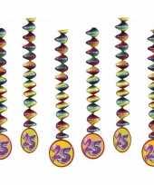 6x rotorspiralen 25 jaar versiering feestartikelen feestje