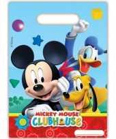 6x stuks mickey mouse feestzakjes uitdeelzakjes feestje