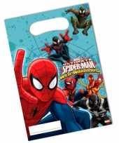 6x stuks spiderman warriors feest cadeau uitdeelzakjes feestje