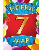 7 jaar mega deurposter 59 x 84 cm leeftijd verjaardag feestartikelen feestje