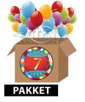 7 jarige feestversiering pakket feestje