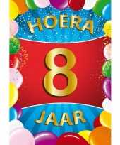 8 jaar mega deurposter 59 x 84 cm leeftijd verjaardag feestartikelen feestje