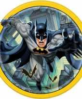 8x batman themafeest eetbordjes 23 cm feestje