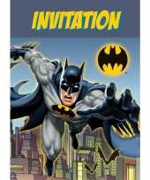8x batman themafeest uitnodingen kaarten feestje