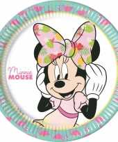 8x disney minnie mouse tropical themafeest bordjes 23 cm feestje