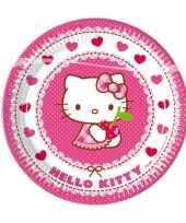 8x hello kitty themafeest bordjes 23 cm feestje