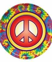 8x hippie themafeest borden 22 cm feestje