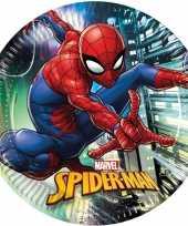 8x marvel spiderman themafeest bordjes 23 cm feestje