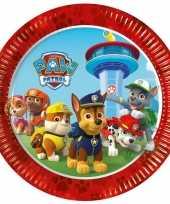 8x paw patrol feest bordjes feestje
