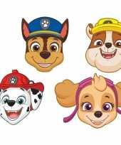 8x paw patrol themafeest maskers feestje