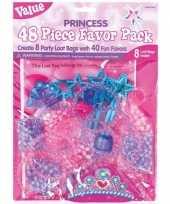 8x prinsessen themafeest uitdeelzakjes met cadeautjes feestje