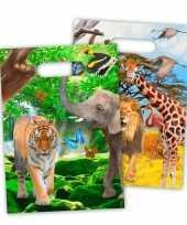 8x safari jungle themafeest feestzakjes 18 x 29 cm feestje