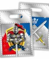 8x stuks ridder them kinderfeestje feestzakjes feestje