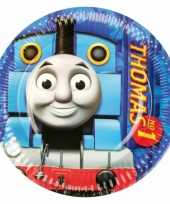 8x stuks verjaardag feest bordjes thomas de trein 23 cm feestje