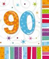 90 jaar feest artikelen servetten feestje