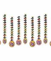 9x rotorspiralen 25 jaar versiering feestartikelen feestje