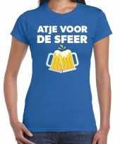 Atje voor de sfeer feest t-shirt blauw voor dames feestje
