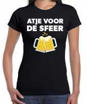 Atje voor de sfeer feest t-shirt zwart voor dames feestje