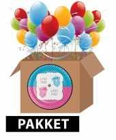 Babyshower onthulling decoratie feest pakket feestje