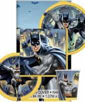 Batman themafeest tafeldecoratie pakket 8 personen feestje