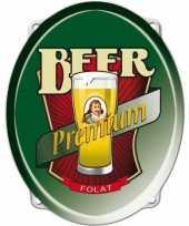 Bier feestartikelen bord 42 cm feestje