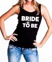 Bride to be vrijgezellenfeest tanktop mouwloos shirt zwart dam feestje