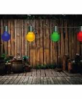Buiten feestverlichting lichtsnoer gekleurde bolletjes 10 meter feestje 10164107