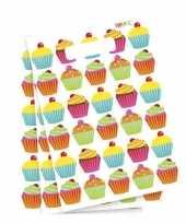 Cupcake feest uitdeelzakjes feestje